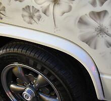 Hibiscus Flowered Volkswagen T25 by Retrophoto