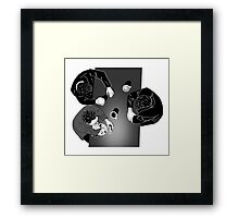 A serious discussion. Framed Print