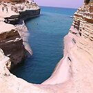 Big hole in Corfu Island by Meeli Sonn