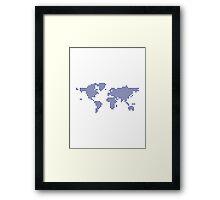 World map pixel Framed Print