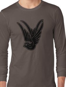 Black Swallow Long Sleeve T-Shirt