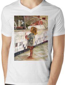 Soda Girl Mens V-Neck T-Shirt