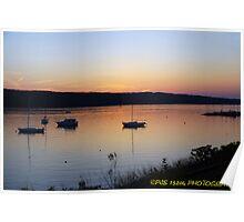 Cayuga lake sunset  Poster