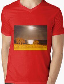 Moon Light on Water Mens V-Neck T-Shirt