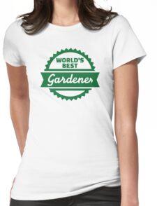 World's best gardener Womens Fitted T-Shirt