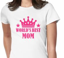 World's best mom Womens Fitted T-Shirt