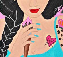 Lakeon Paints tattooed painter girl Sticker