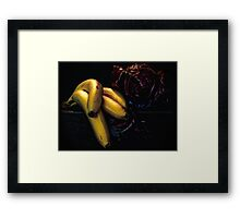The Fruit and Mysterious Veggie Framed Print