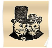 Mom and Dad Cat Poster