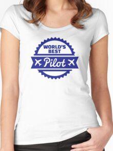 World's best Pilot Women's Fitted Scoop T-Shirt