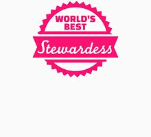 World's best Stewardess Womens Fitted T-Shirt