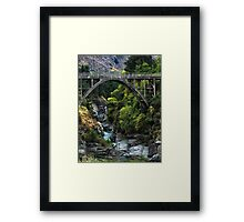 Edith Cavell Bridge, Queenstown Framed Print