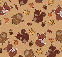 Cute Autumn Pattern  by Adriana Cruz Berdecia