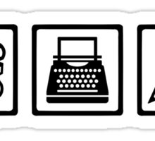 Writer author equipment Sticker