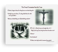 The Seven Expressions From the Cross, (page 1) Canvas Print