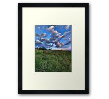 clouds at sunset Framed Print