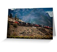 Freight Train, Lillooet, British Columbia Greeting Card