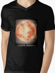 Bloodborne Moon Mens V-Neck T-Shirt