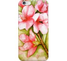 Peach Flower Watercolor iPhone Case iPhone Case/Skin