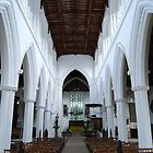 Central Aisle St John the Baptist by Nigel Bangert