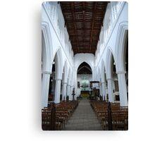 Central Aisle St John the Baptist Canvas Print