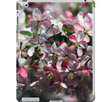 Honeybee Visits Crabapple Blossoms iPad Case/Skin