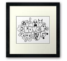 Doodle Love /Black and White Framed Print