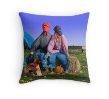 Homeless straw street people Throw Pillow