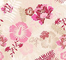 Pink botanical dreaming by supercamel
