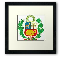 Peru Flag Framed Print