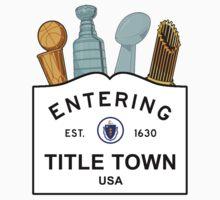 Title Town - Boston, MA - Trophy Version Kids Clothes
