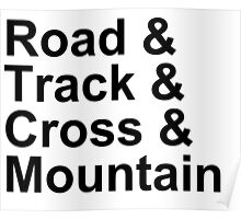 Bicycling Styles - Road, Track, Cross, Mountain Poster