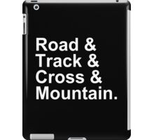 Bicycling Styles - Road, Track, Cross, Mountain iPad Case/Skin