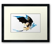Toothless's Shadow Framed Print