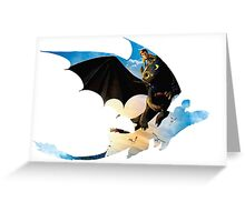 Toothless's Shadow Greeting Card