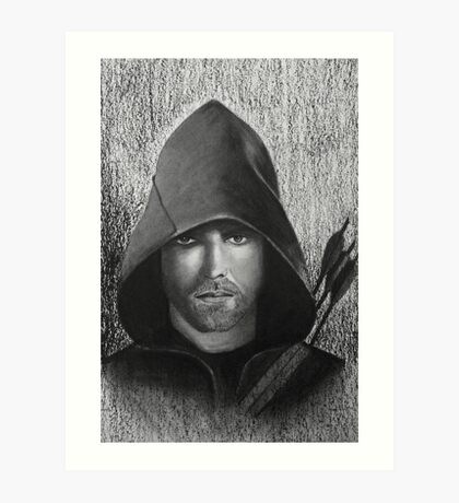 Arrow in Graffiti and Charcoal Art Print