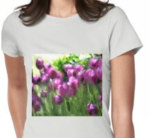 MAGICAL PURPLE TULIPS Womens Fitted T-Shirt