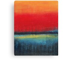 Orange Blue Drip - abstract Canvas Print