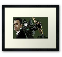"""""""My Name is Oliver Queen"""" Framed Print"""