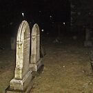 When Snow Falls Up?  - Cemetery at Night by Jane Neill-Hancock