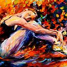 Resting Ballerina — Buy Now Link - www.etsy.com/listing/225952436 by Leonid  Afremov