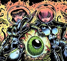 ALIEN EYE & SPACE BABES by NoCashComics