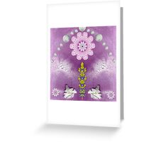 Under the rainbow is a temple Greeting Card