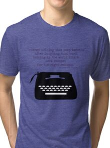 The Perks of Being a Typewriter Tri-blend T-Shirt