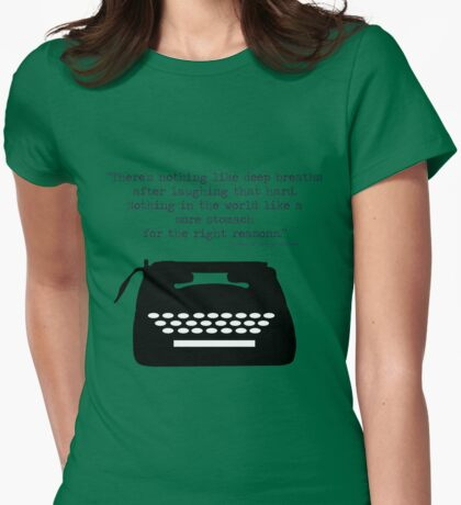 The Perks of Being a Typewriter Womens Fitted T-Shirt