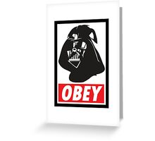 OBEY Vader Greeting Card