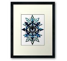 EVIL EYE WITH CHAOS STAR Framed Print