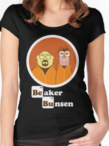 Beaker Bunsen Breaking Bad Women's Fitted Scoop T-Shirt