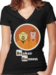 Beaker Bunsen Breaking Bad Women's Fitted V-Neck T-Shirt