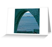 Freighter through Arch Greeting Card
